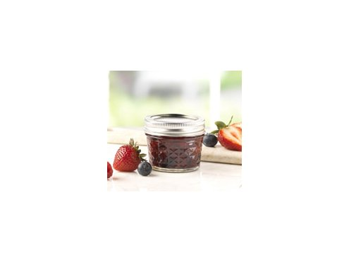 Ball Quilted CrystalJelly Jars 4 ounces Set of 12