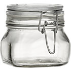 Fido Half Liter Square Jar with Clamp Lid