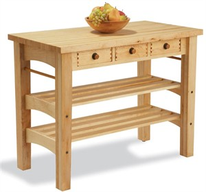 Snow River Maple Kitchen Island