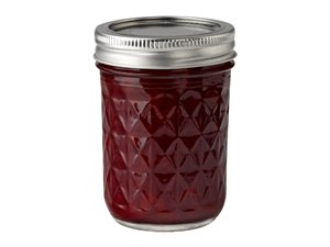 Ball Half Pint (8 oz) Quilted Crystal Jelly Jars Set of 12