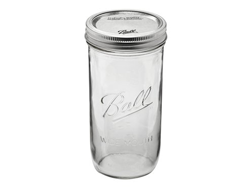Ball Pint & Half (24 oz) Wide Mouth Mason Jars Set of 12