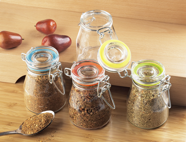 Global Amici Rainbow Spice Jars (Set of 4, Assorted Colors)