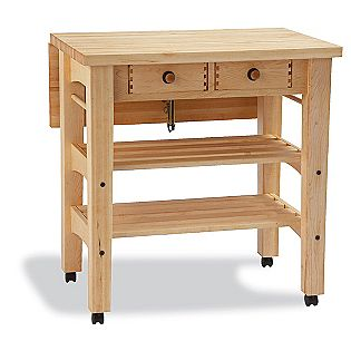 Snow River  Maple Drop Leaf Kitchen Island